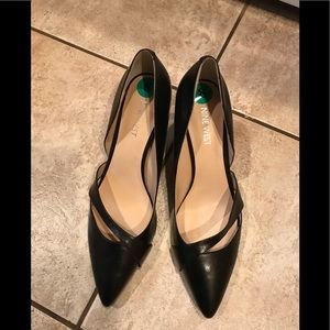 Nine West Black Leather Pumps